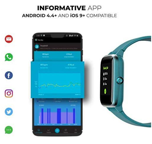 Noise Colorfit Pro 2 Full Touch Control Smart Watch Teal Green