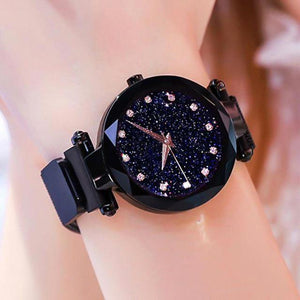 Black Golden Dial Strap Analog Watch for Girl & Woman's Watch
