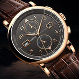 Business Watch Top Brand Luxury Fashion Man Leather Waterproof