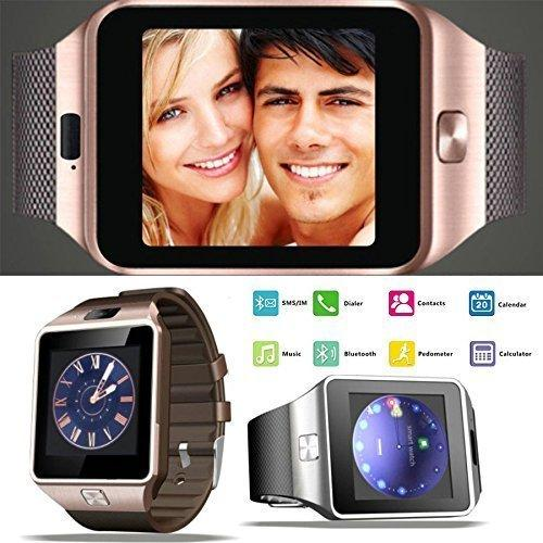 Bluetooth Smart Watch Phone Compatible with All Android and iOS Smartphones M9 All 3G, 4G Phone with Camera and Sim Card Support (Golden) for Unisex