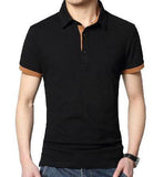 New Men's Collar Dress Stylish Long Sleeve Premium 100% Cotton T-shirt (3 Pcs.)