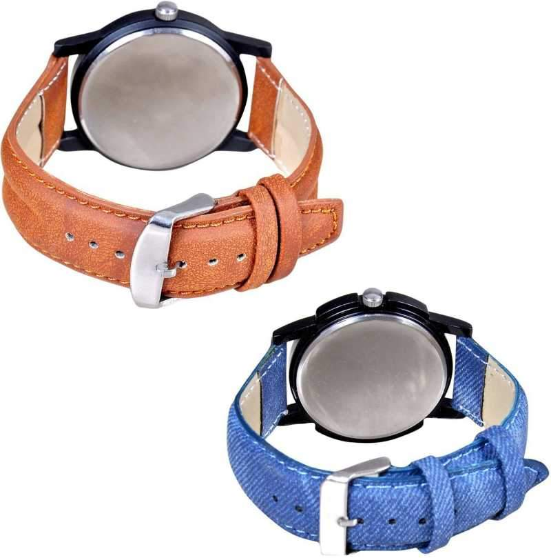 Stylish Attractive Chronograph Pattern Combo pack-2 Boys Watch Combo pack 2 Analog Watch - For Boys