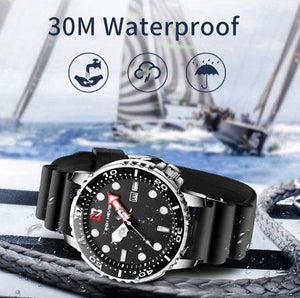 Men's Watches Fashion Analog Quartz Watch with Date Military Watch Waterproof