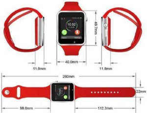 COMBO 4G Calling Smartwatch RED, BLACK Smartwatch  (Silver Strap FREE SIZE)