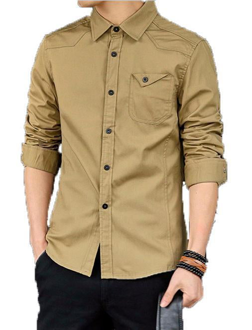 Summer Men Shirt Male Long Sleeve Breathable Shirts solid Color Slim (3 Shirts Pack)