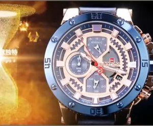 SPORT MEN WATCH BIG STEEL CASE COMPLICATED DIAL