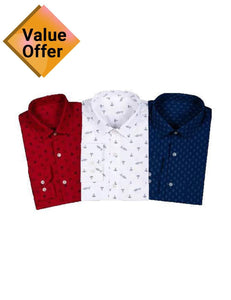 Pack of 3 Luxury Royal Style Shirt Comfortable Shirts for Men