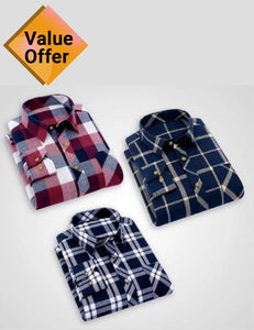 New arrival 2020: Branded men's fashion shirt pattern - pack of 3