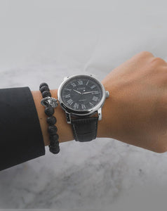 Analog watch- SILVER / BLACK
