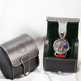 Black Leather Timepiece Travel Box