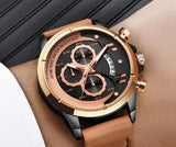 Mens Watches Top Brand Luxury Analog Quartz Watch For Men Sport Watch Men Leather Waterproof wristwatch