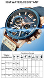 Men Analog Leather Sports Watches Men's Army Military Watch Male Date Quartz Clock