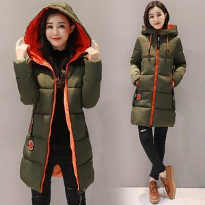 Women Long Hooded Parka