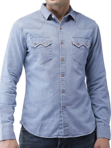 New branded Simple look Comfortable Denim Shirts for Men  Pack Of 2
