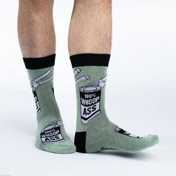 Men's Can of Whoop *ss Crew Socks