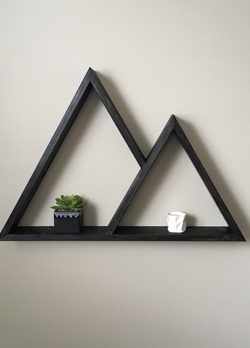 Two Peak Mountain Shelf - Black