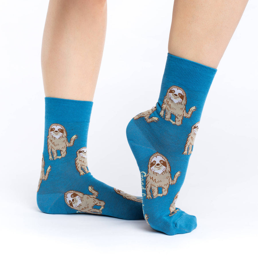 Women's Hello Sloth Crew Socks