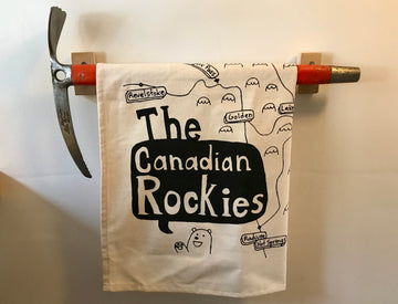 Canadian Rockies Tea Towel