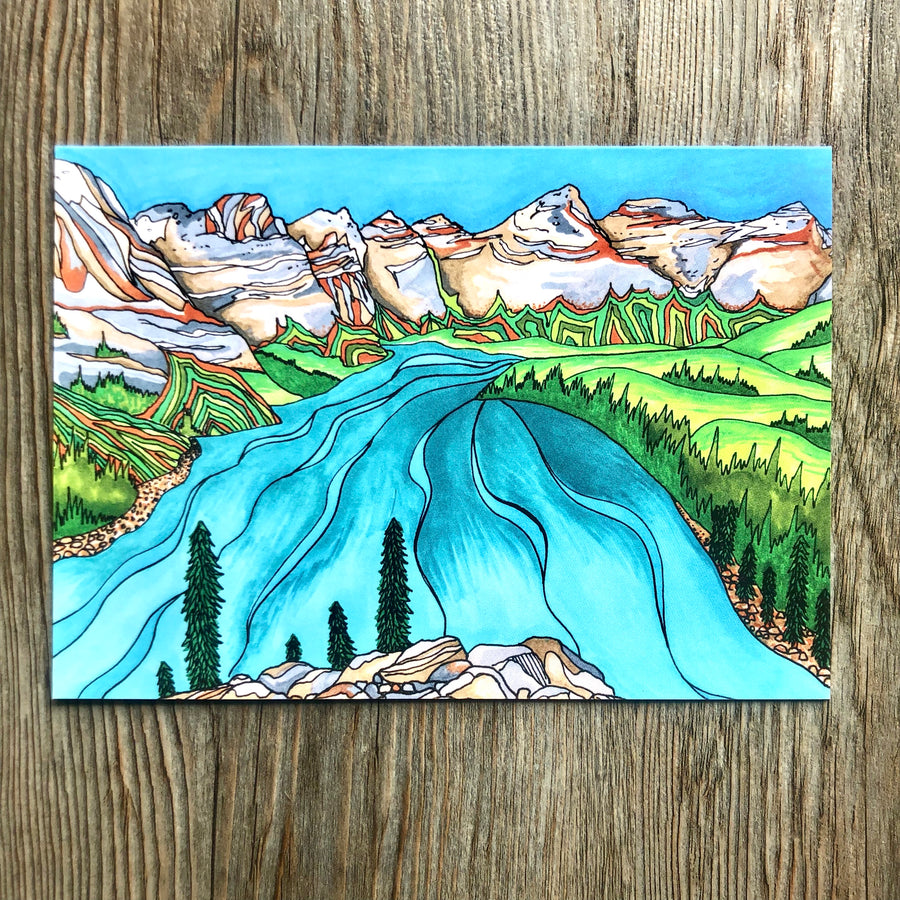 Moraine Lake Card