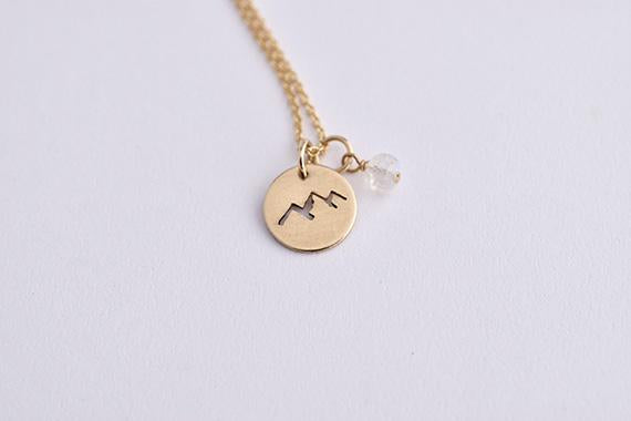 Glimpse Necklace - Gold Mountains