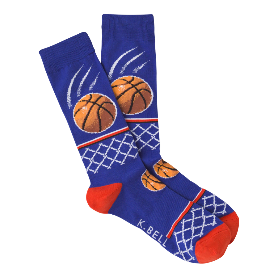 Men's Fashion Sock Basketball - Blue
