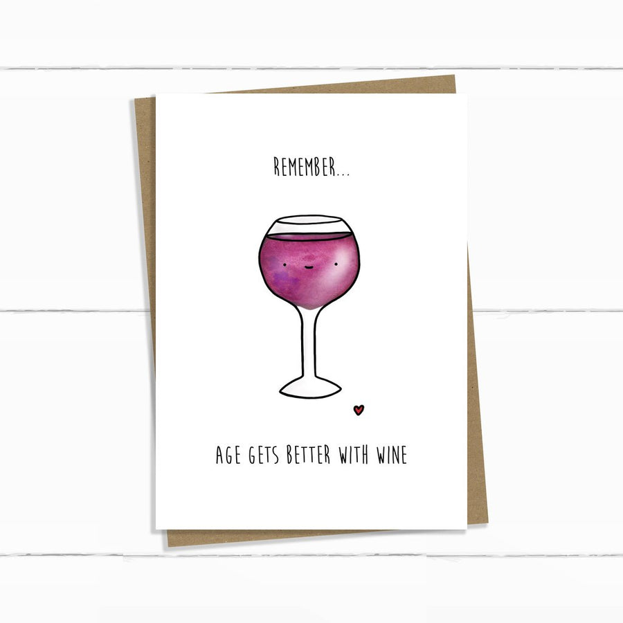 Better With Wine Card