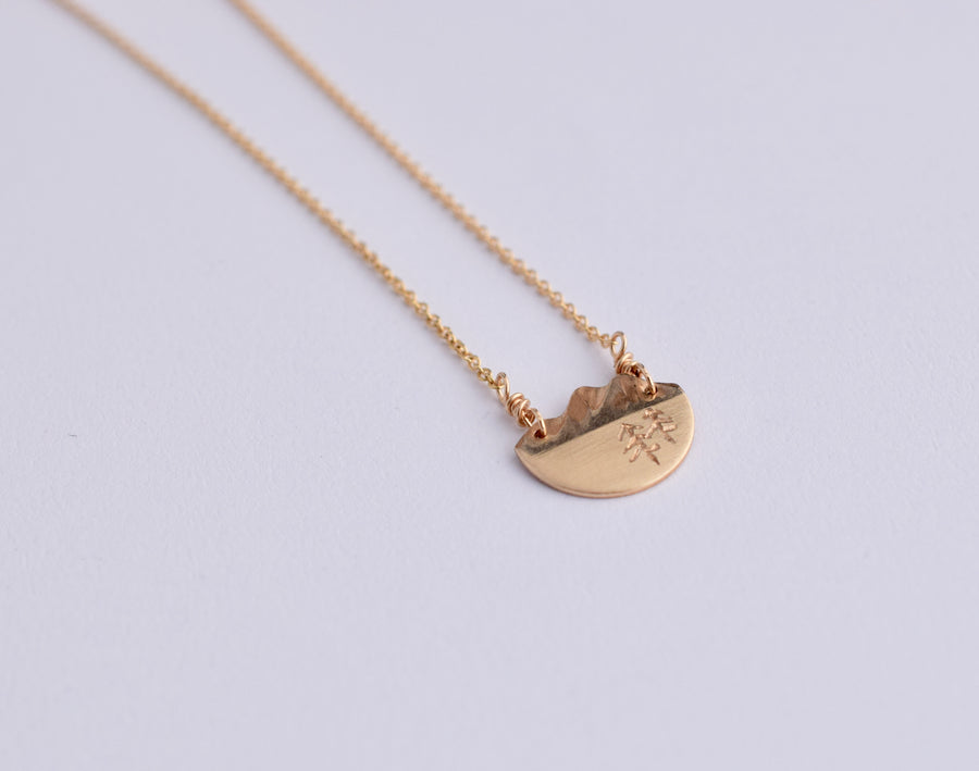 Horizons Necklace - Trees Gold