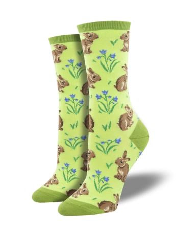 Relaxed Rabbit Women's Crew Socks