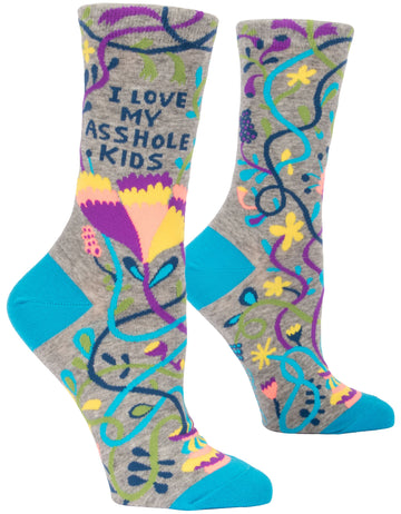 Women's Love My A**whole Kids Crew Sock