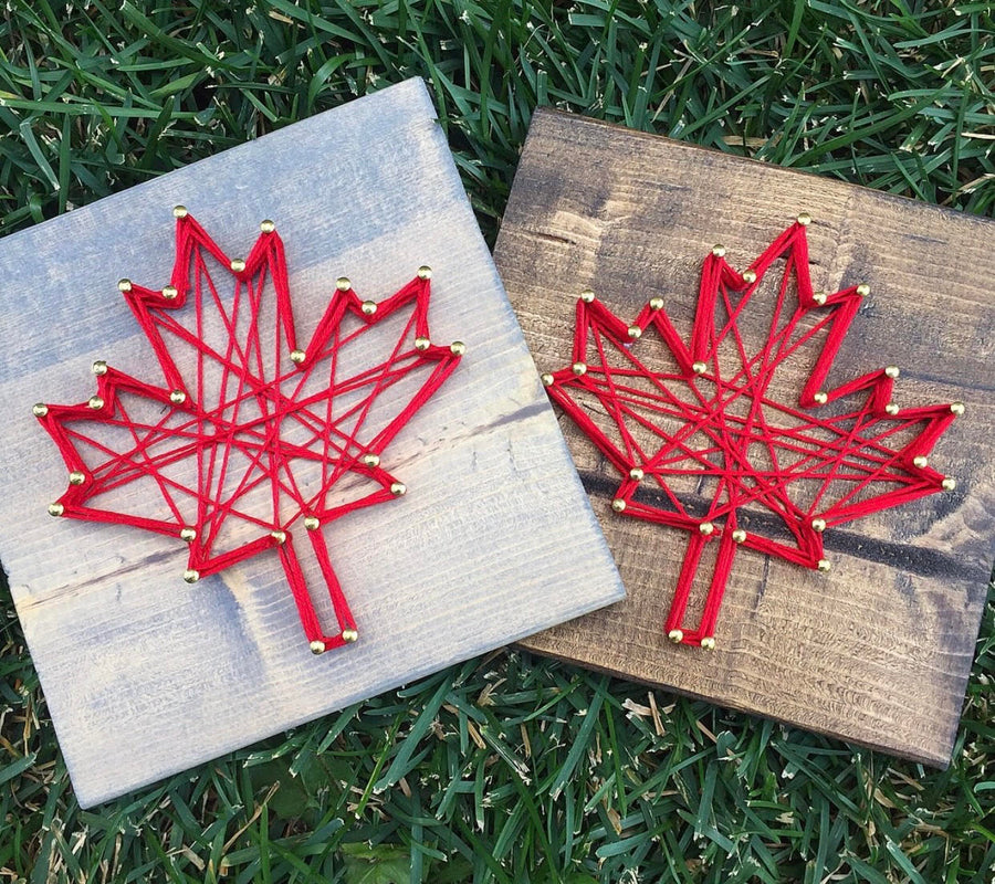 Maple Leaf String Art - Brown