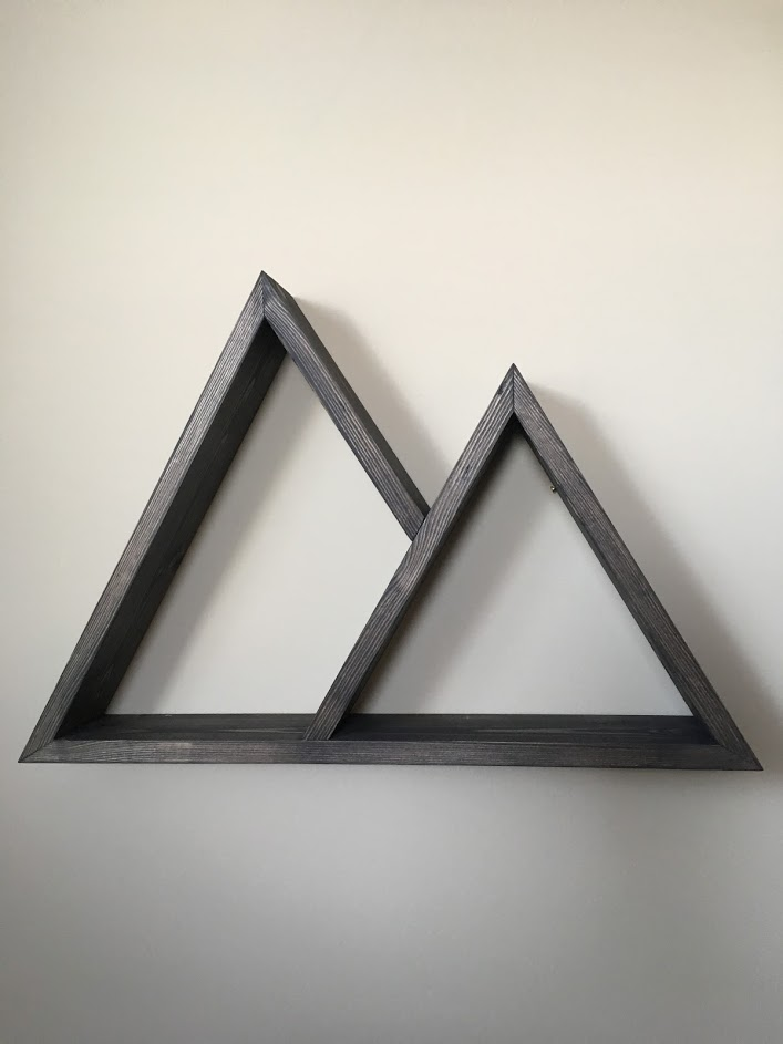 Mini Mountain Shelf - Dark Grey