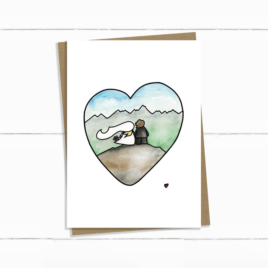 Mountain Wedding Card