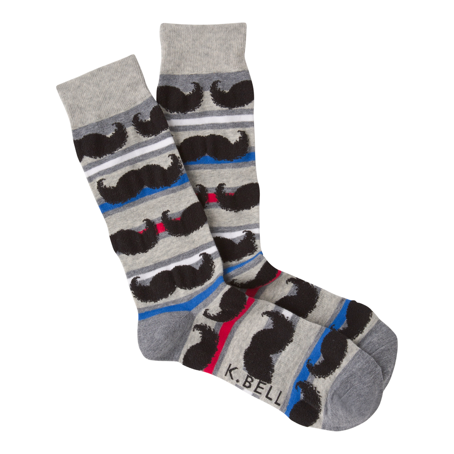 Men's Fashion Moustache Striped Sock