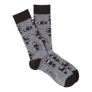 Men's Fashion Sock - Ninjas Grey