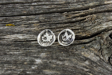 Mackenzie Jones Small Round Stud Earrings - Oh Canada