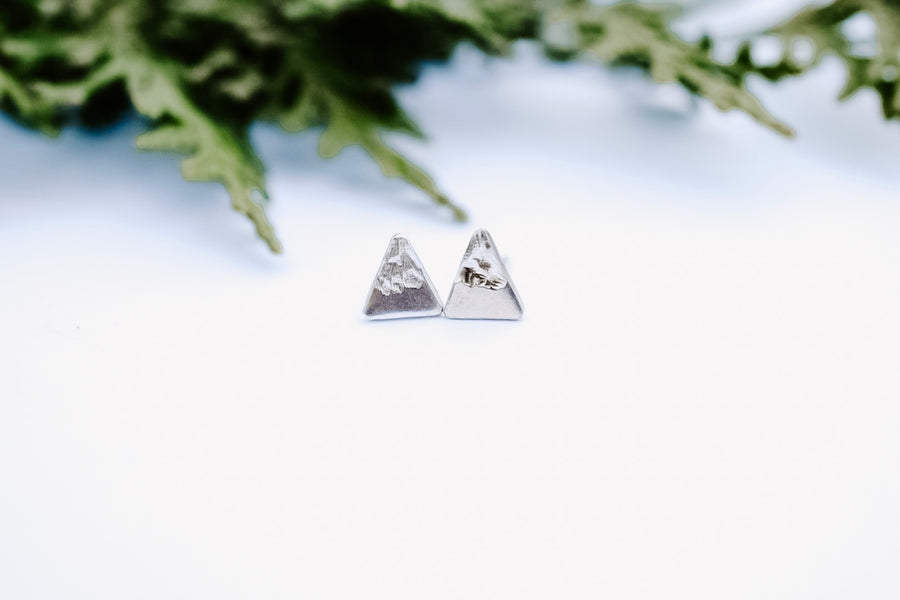 Small Peak Stud Earring - Silver