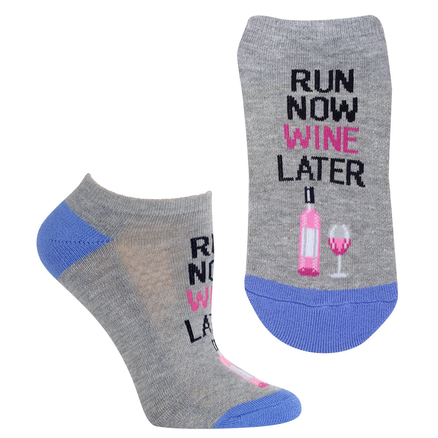 Ladies' Run Now Wine Later Ankle Sock