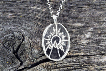 Mackenzie Jones Long Sun-Moon Necklace