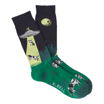 Men's Fashion Sock UFO's - Navy
