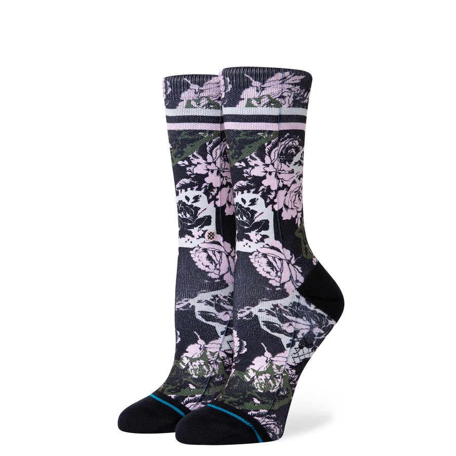 Women's La Vie En Rose Sock - Black S