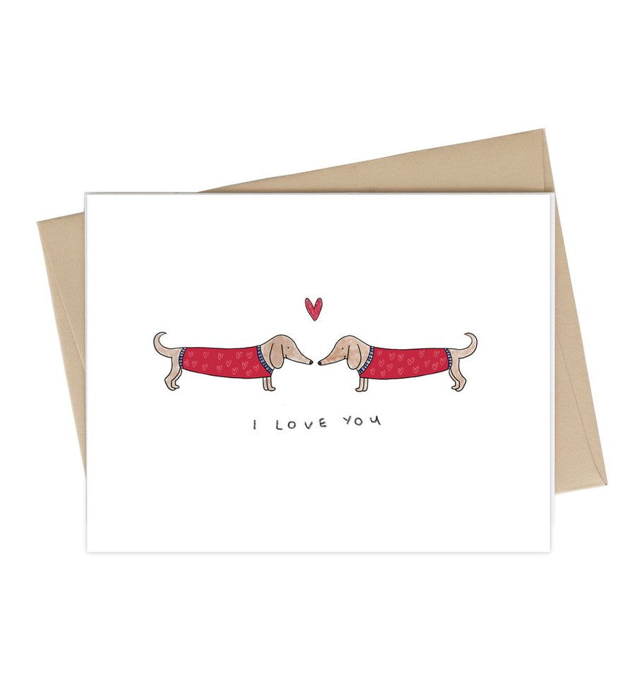 Weiner Dog I Love You Card