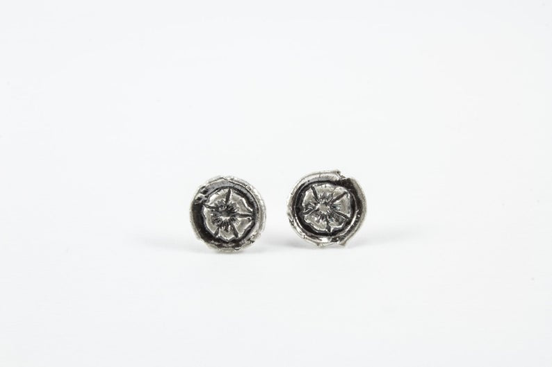 Mackenzie Jones Small Round Stud Earrings - Wild Rose