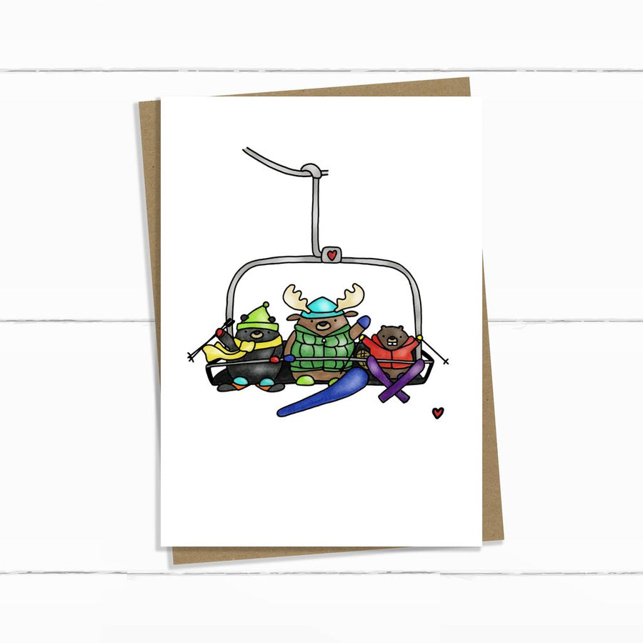 Winter Chairlift Card