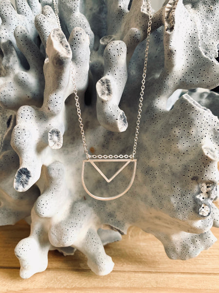 Small Contemporary Pendant- Sterling Silver