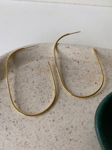 Large Oblong Hoops