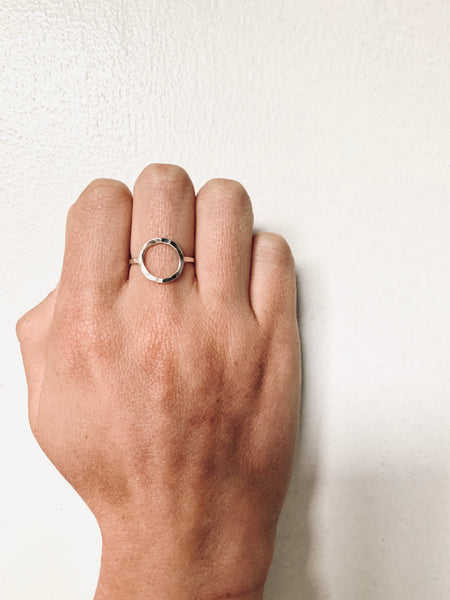 Open Circle Ring- Sterling Silver