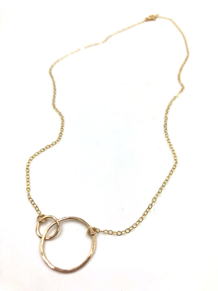 Interlocking Hoop Necklace- 14k Gold Filled