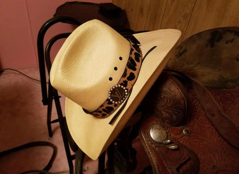 Hatband LV Cow Hide