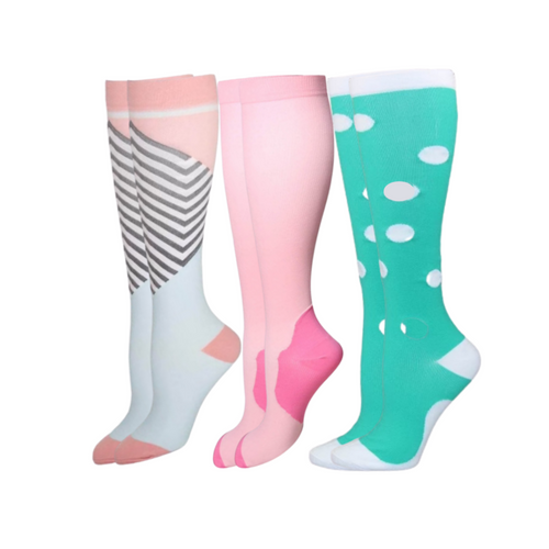 Buy Sistasaidso+ 3-Set 'Festival' Compression Socks Online - Sistasaidso+