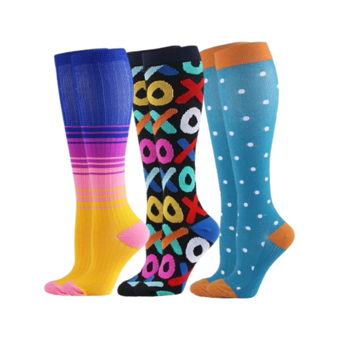 Buy Sistasaidso+ 3-Set 'Arcade' Compression Socks Online - Sistasaidso+